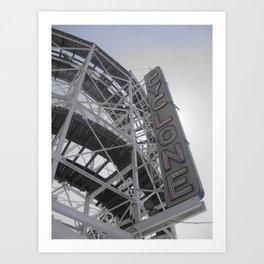 Cyclone Ride at Coney Island in Brooklyn Art Print