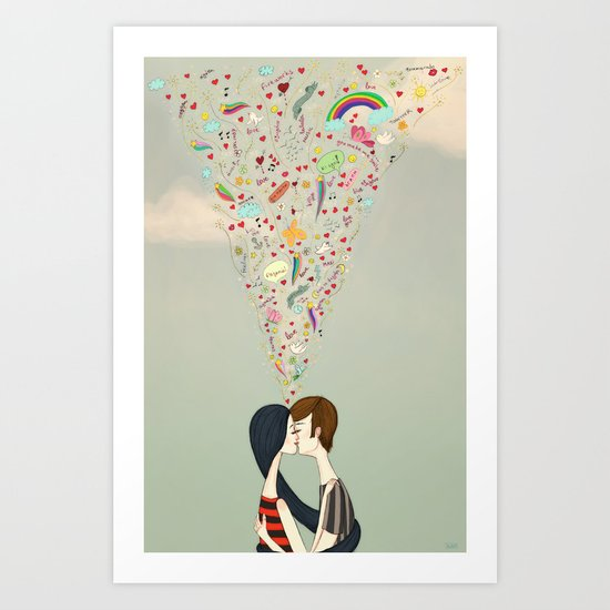 love thoughts Art Print