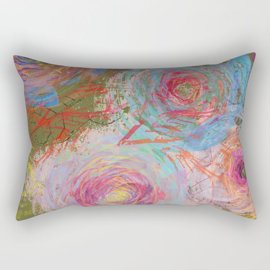 Floral abstract(38) Rectangular Pillow