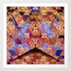 Triangles at Night Art Print