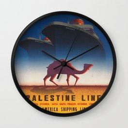 Vintage poster - Palestine Line Wall Clock