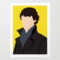 sherlock Art Prints featuring Sherlock by Jessica Slater Design & Illustration