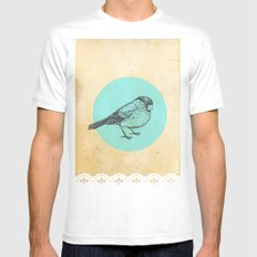 Spotted bird Mens Fitted Tee White MEDIUM