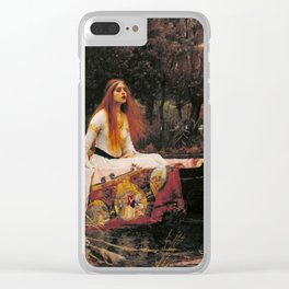 John William Waterhouse The Lady Of Shallot Restored Clear iPhone Case