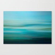 Greenish Blue Sea Canvas Print