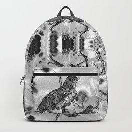 Baby Robin Black & White Pattern Backpack
