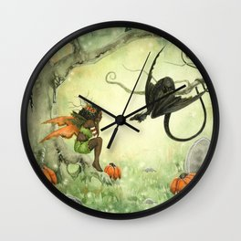 Pumpkin Discussions Wall Clock