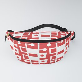 Mid Century Modern Abstract 213 Red Fanny Pack