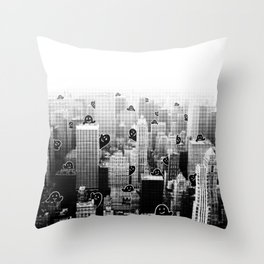 Ghost City Throw Pillow