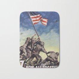 Raising the Flag on Iwo Jima Bath Mat