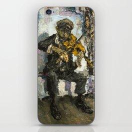 street musician v iPhone Skin