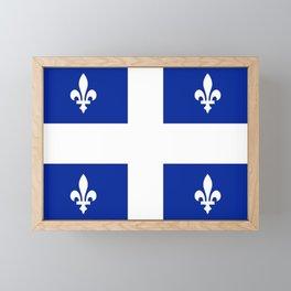 Flag of Quebec Framed Mini Art Print