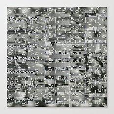 Knowing Wink (P/D3 Glitch Collage Studies) Canvas Print