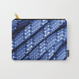 climbing rope texture blue  Carry-All Pouch