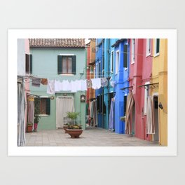 Colors of Burano Italy Art Print