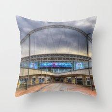 Wembley stadium London Throw Pillow