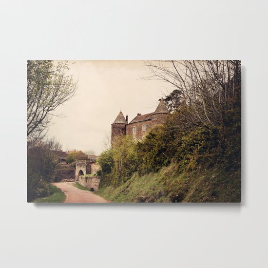 Brancion - French Medieval Chateau Metal Print