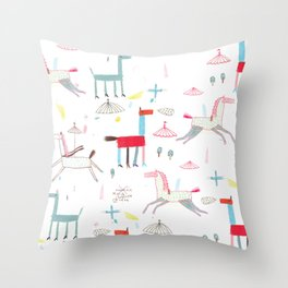 MerryGoRound Throw Pillow