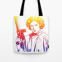 princess leia Tote Bags featuring Princess Leia by mchlsrr