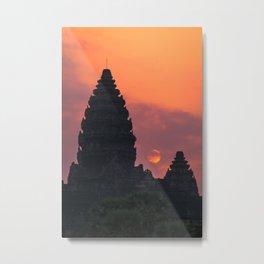 Cloudy sunrise at Angkor Wat Metal Print