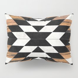 Urban Tribal Pattern No.13 - Aztec - Concrete and Wood Pillow Sham