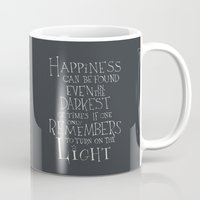 "dumbledore Mugs featuring Harry Potter - Albus Dumbledore quote ""Happiness""  by S.S.2"