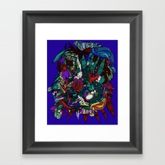Jungle tree Framed Art Print