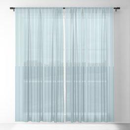 Color Block Lines VIII Blue Sheer Curtain