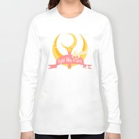sailormoon Long Sleeve T-shirts featuring  Fight like a Magical Girl by Shouho