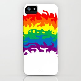 Rainbow Warp iPhone Case