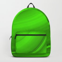 Hot voluminous malachite curved lines with delicate outlines of ceramic semicircles.  Backpack