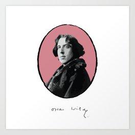 Authors - Oscar Wilde Art Print