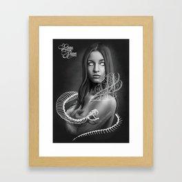 Art design of snake witch Framed Art Print