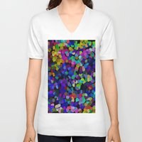 dots V-neck T-shirts featuring Dots by Art-Motiva