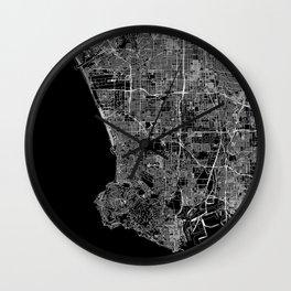Los Angeles Black Map Wall Clock