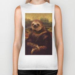 Sloth  Mona Lisa Biker Tank