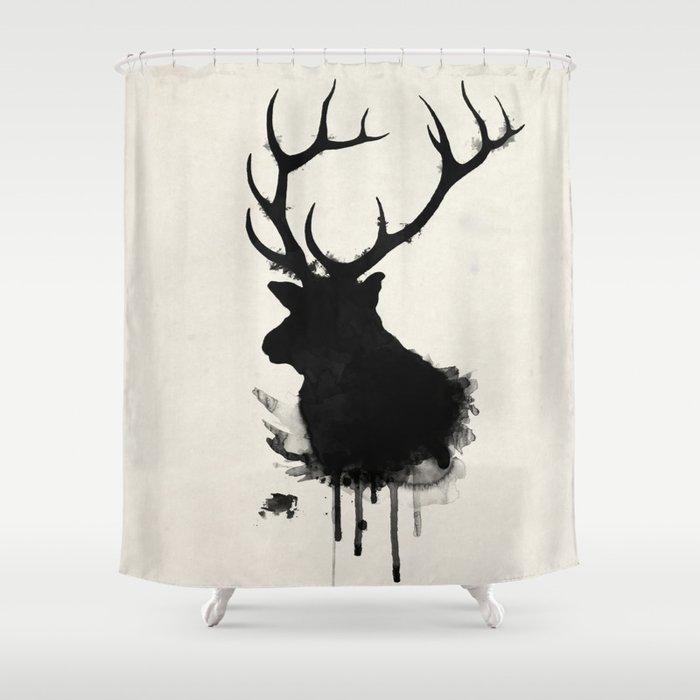 Elk Shower Curtain By Nicklasgustafsson