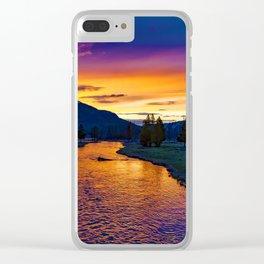 Sundown At Yellowstone Clear iPhone Case