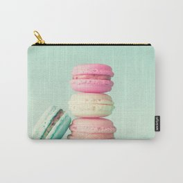 Tower of macarons, macaroons over green mint Carry-All Pouch