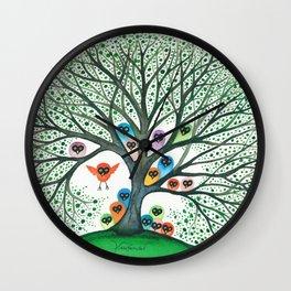 Teton Owls in Tree Wall Clock