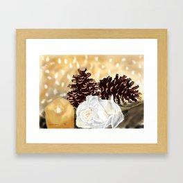 Christmas Setting Framed Art Print