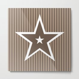 The Greatest Star! Coffee and Cream Metal Print