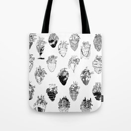 The Anatomy of a Heart Pattern Tote Bag