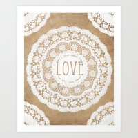 all you need is love Art Prints featuring All You Need is Love by Jenndalyn