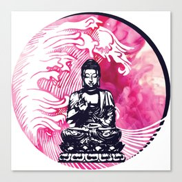 Smokey Buddha Wave Canvas Print