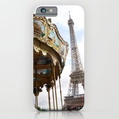 Paris Eiffel Tower Carousel - Paris Eiffel Tower and Carousel - Eiffel Tower Merry Go Round Slim Case iPhone 6s
