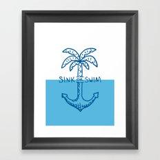 Sink or Swim Framed Art Print