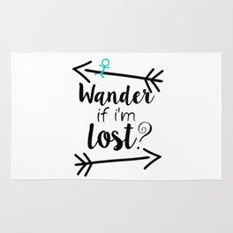 Wander If I'm Lost? Rug