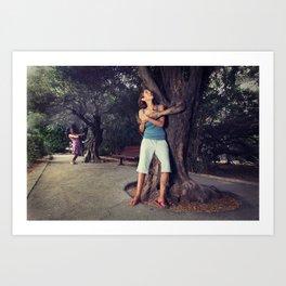 Human Huggers Art Print