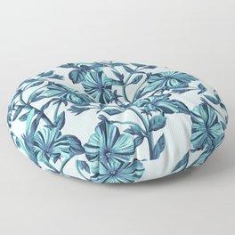 Morning Glories in Blue Floor Pillow